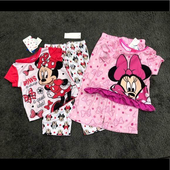 Girls Vampirina 4 Piece Pajama Set Short Sleeve Pants NWT